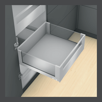Blum LEGRABOX free Inner Drawer C Height GALLERY RAIL 177MM drawer 450MM Integrated BLUMOTION in Orion Grey 40KG