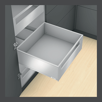 Blum LEGRABOX pure Inner Drawer C Height GALLERY RAIL 177MM drawer 500MM TIP-ON BLUMOTION in Orion Grey 40KG for drawer weight 0-20kg